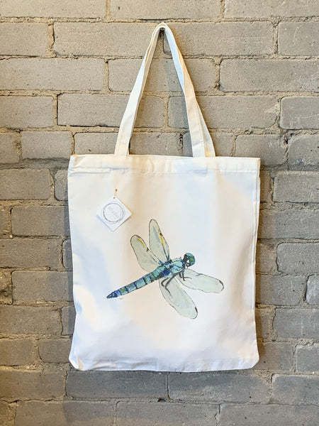 Reusable Art Market Tote - Dragonfly