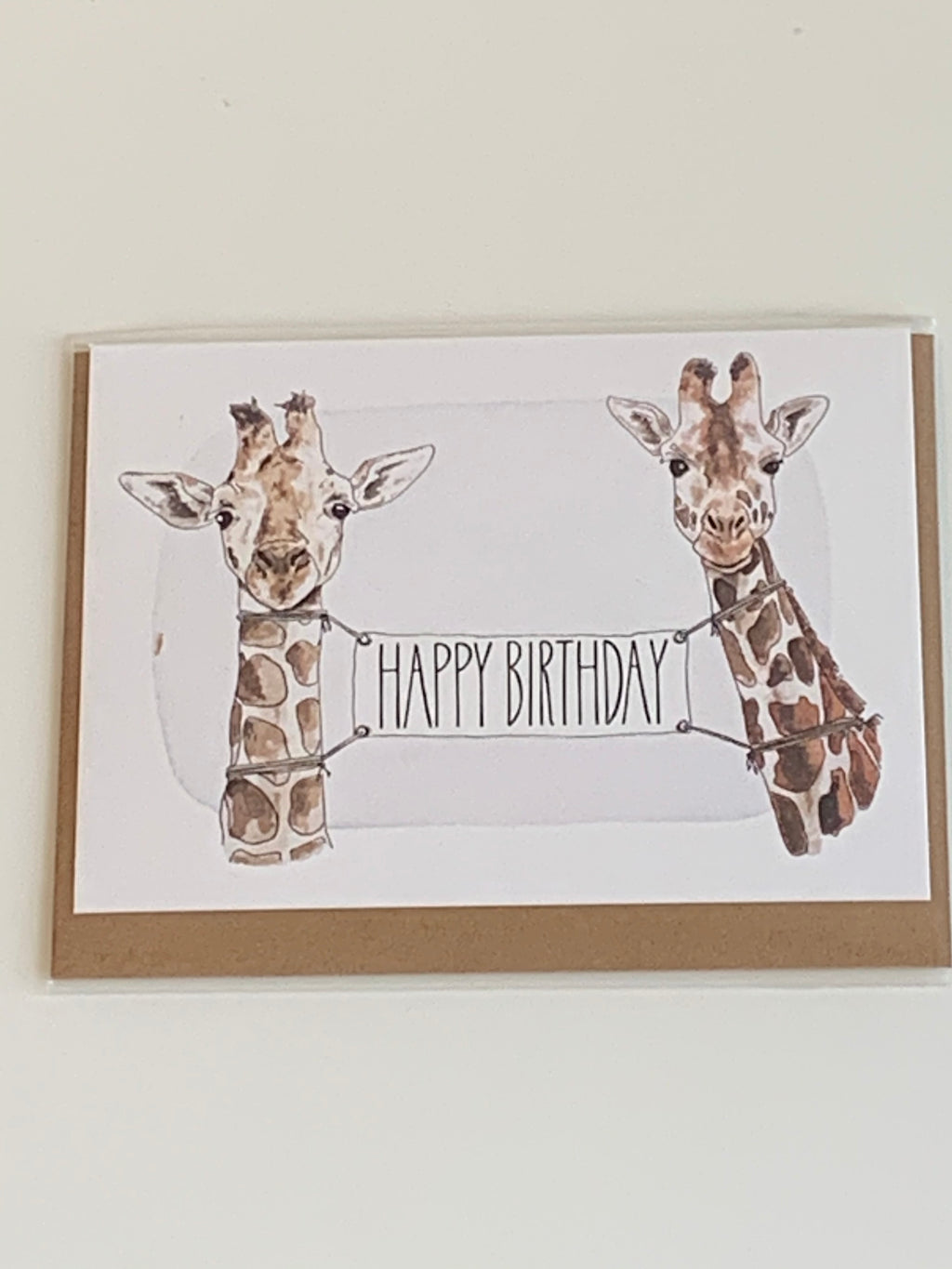 Birthday Giraffes Charity Greeting Card