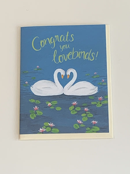 Congrats You Love Birds Charity Greeting Card