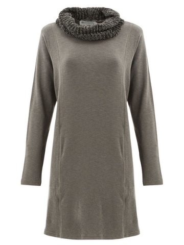 Nixie Organic Cotton Fleece Tunic Dress - Gunmetal Grey