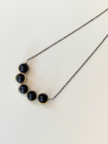 Alignment short necklace - Onyx