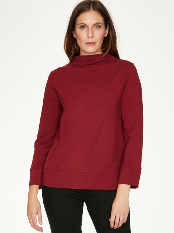 Romany Long Sleeve Bamboo Sweatshirt - Deep Red