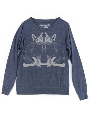 Kitties Eco Pullover - Heather Navy