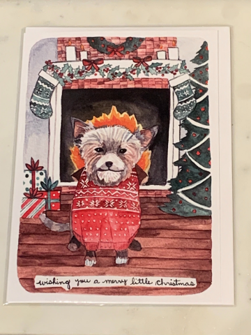 Terrier Christmas Greeting Card