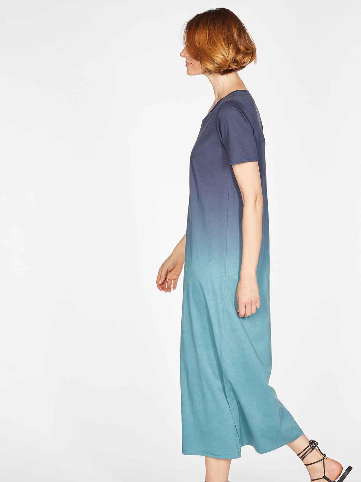 Eliana Tie Dye Tencel and Organic Cotton Jersey Maxi Dress