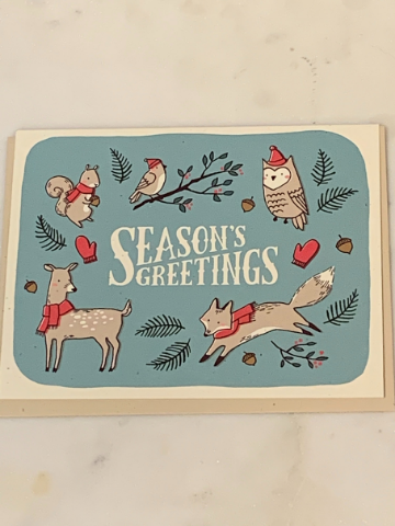 Forest Animals Holiday Charity Greeting Card