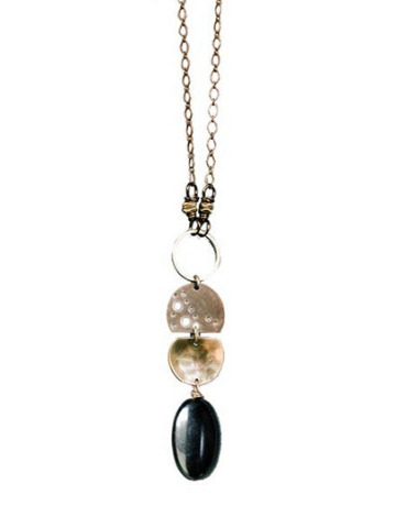 Astrid Long Necklace - Onyx