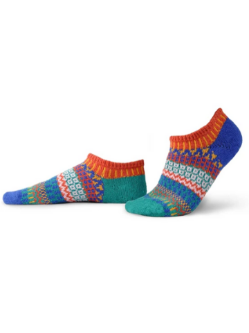 Mismatched Ankle Recycled Cotton Socks - Cayenne