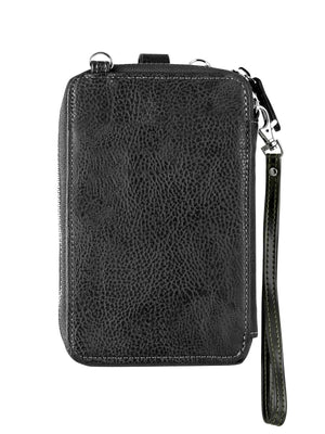 Crossbody Smartphone Pouch - Lotus Black