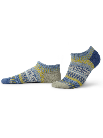 Mismatched Ankle Recycled Cotton Socks - Chicory
