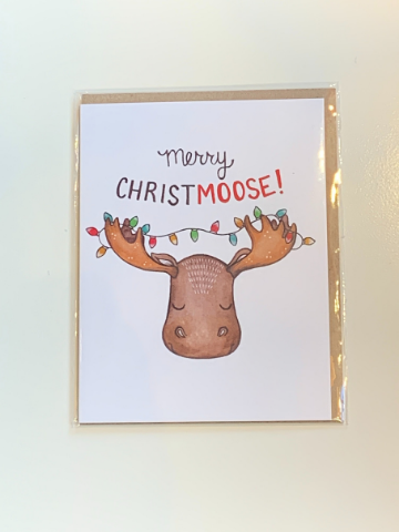 """Christmoose"" Greeting Card"