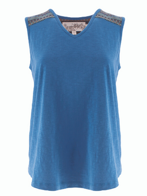 Thea Organic Cotton Tank - Blue