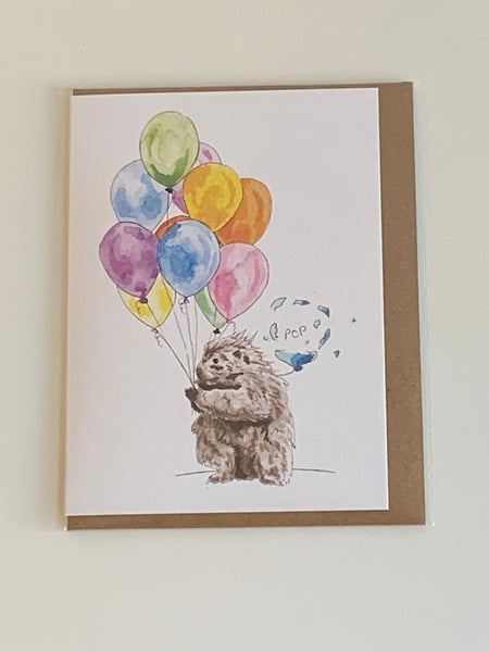 Popping Porcupine Birthday Card
