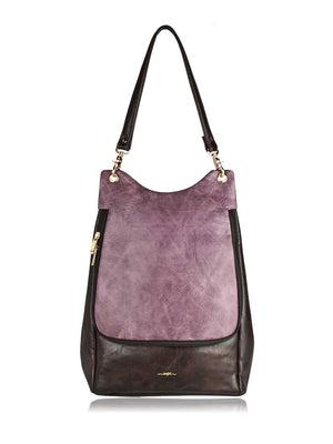 Trend Convertible Backpack - Mauve and Brown