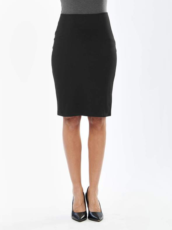 Jan Bamboo Basic Skirt in Black