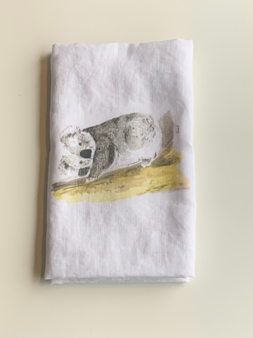 Linen Tea Towel - Koala