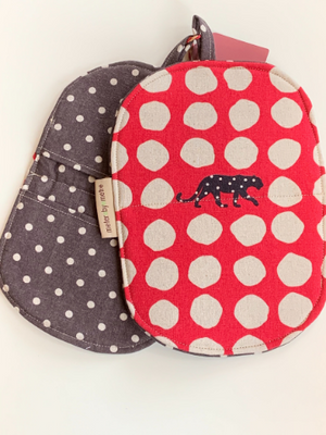 Zero waste Microwave Mitts - Leopards and Spots
