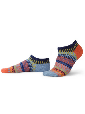 Mismatched Ankle Recycled Cotton Socks - Masala