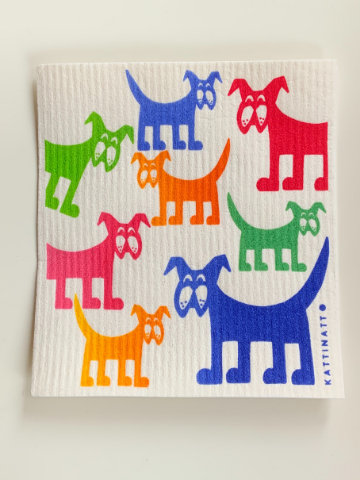 Compostable and Re-usable Dish Cloth/ Kitchen Wipe - Dogs