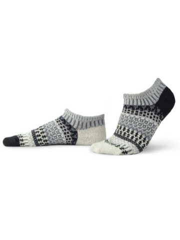 Mismatched Ankle Recycled Cotton Socks - Pepper
