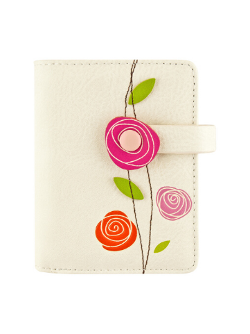 Roses Small Wallet - Off White