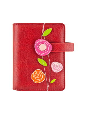 Roses Small Wallet - Red
