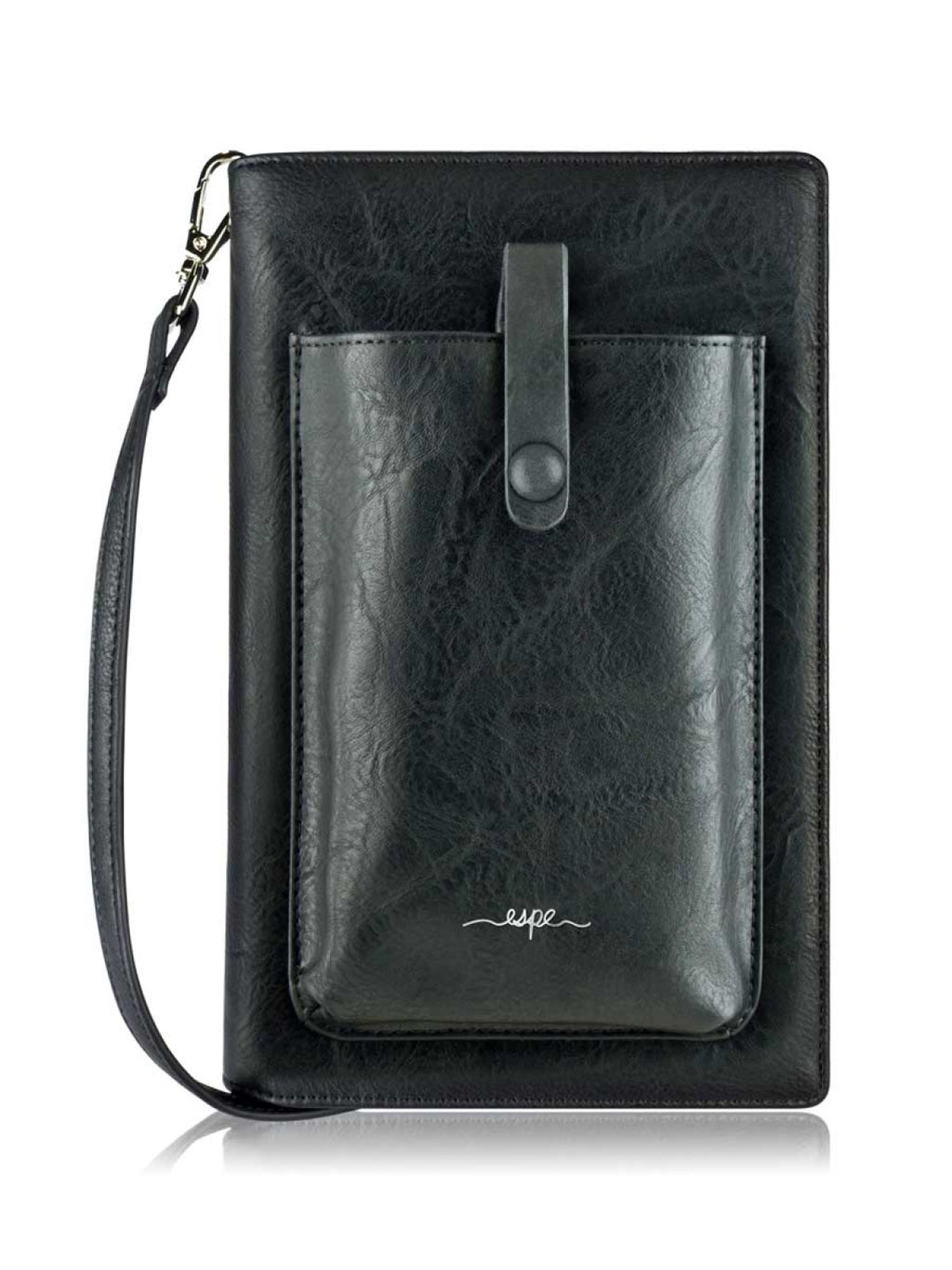 Smartphone Crossbody and Organizer - Black