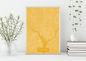 Washington Map Poster