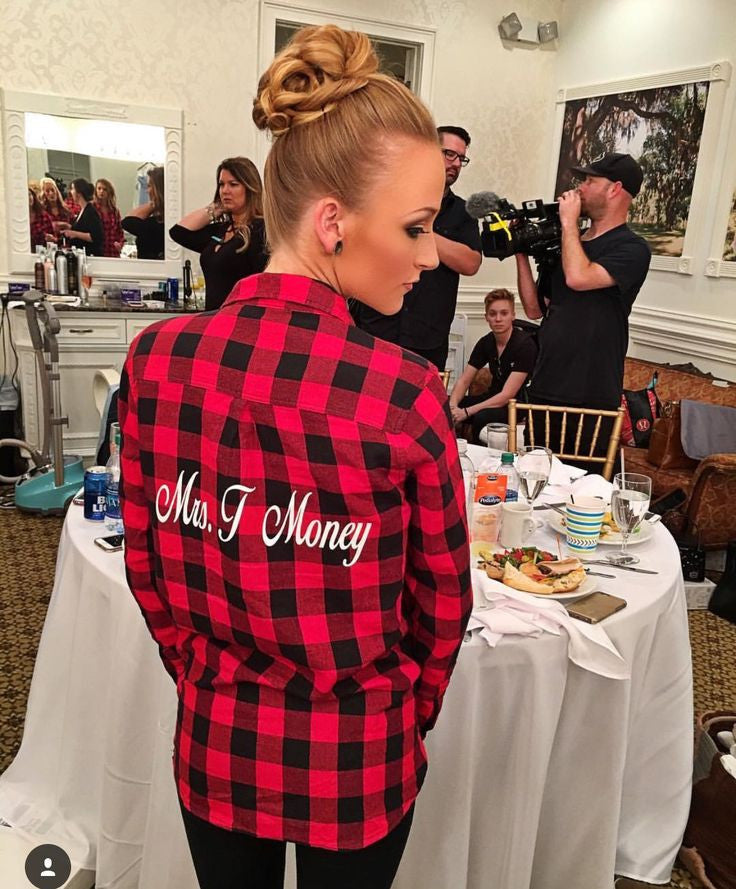 CUSTOM BRIDE FLANNEL as seen on Maci Bookout Mckinney