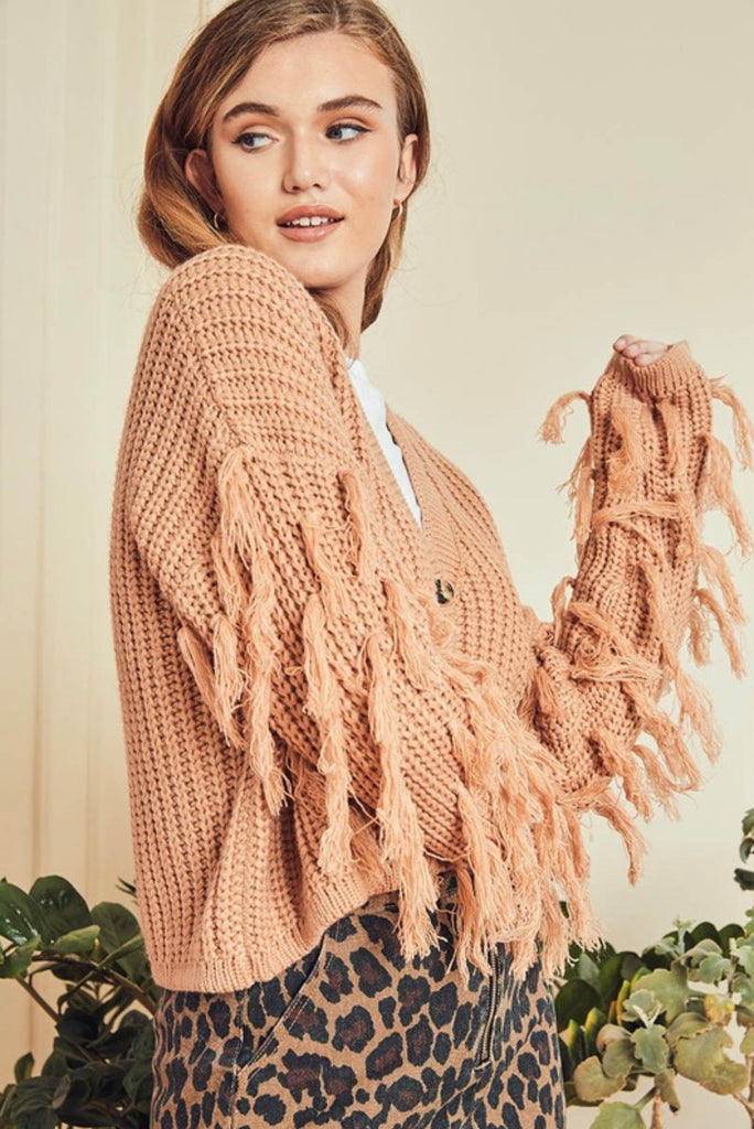 DOLLY fringe sweater
