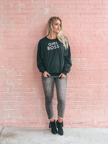 """GIRL BOSS"" long sleeve tee"