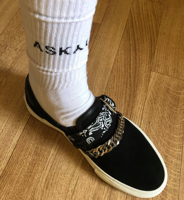 ASKYURSELF LOGO SOCKS