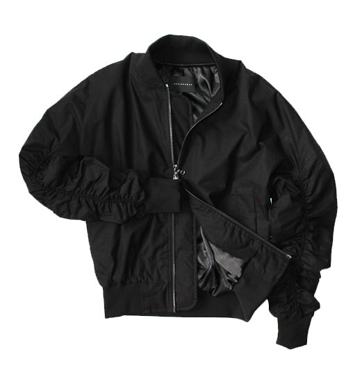 Stealth Cotton Blend Bomber Jacket