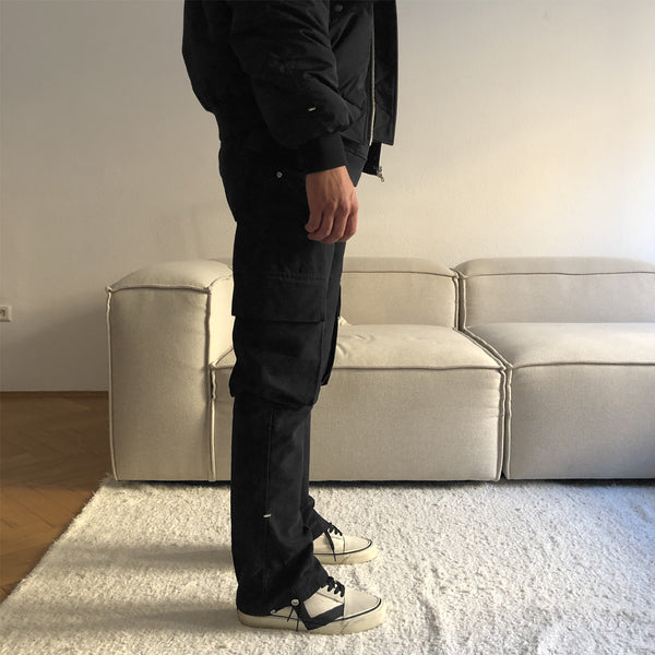 ADJUSTABLE FLARE CARGO PANT