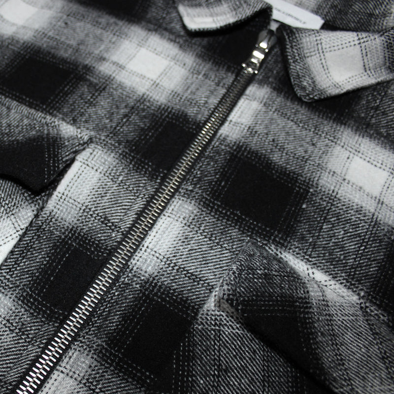 LAYERED ZIP UP FLANNEL