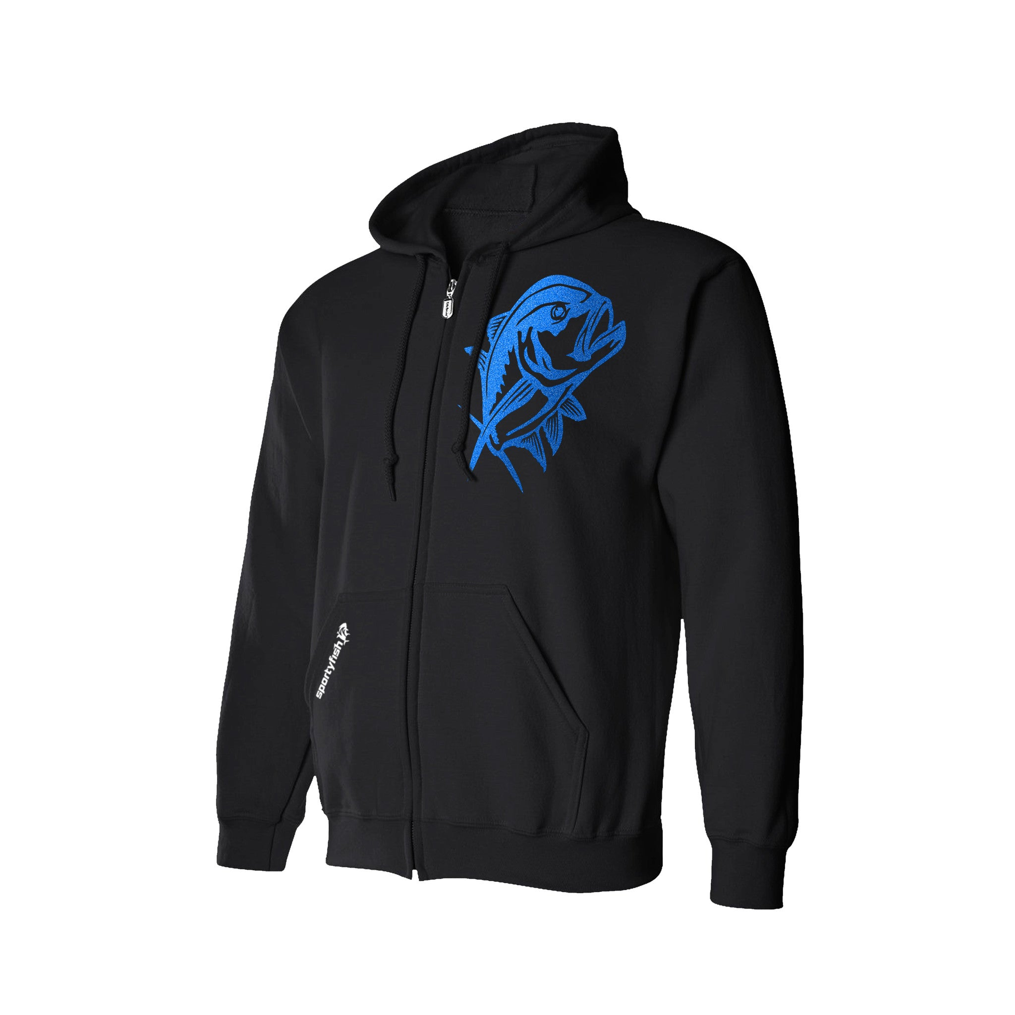 SportyFish Black Series Hoodie(front view): Giant Trevally