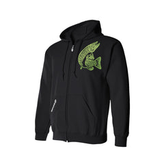 SportyFish Black Series Hoodie(front view): Northern Pike