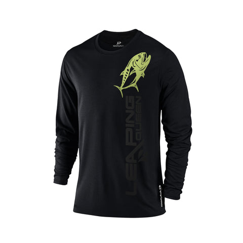 SportyFish Black Series Long-sleeves T-shirt(front view): Queenfish