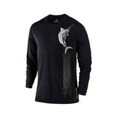 SportyFish Black Series Long-sleeves T-shirt(front view): Atlantic Sailfish