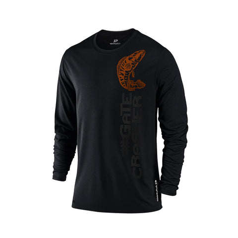 SportyFish Black Series black Long-sleeves t-shirt: Toman front view