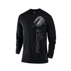 SportyFish Black Series Long-sleeves T-shirt(front view): Wels Catfish