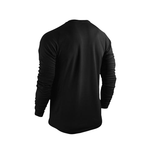 SportyFish Black Series black long-sleeves t-shirt: Northern Pike back view