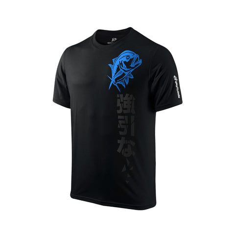 SportyFish Black Series black t-shirt: Giant Trevally front view