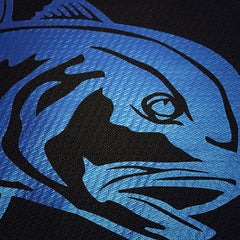 SportyFish Black Series black t-shirt: Giant Trevally close-up view