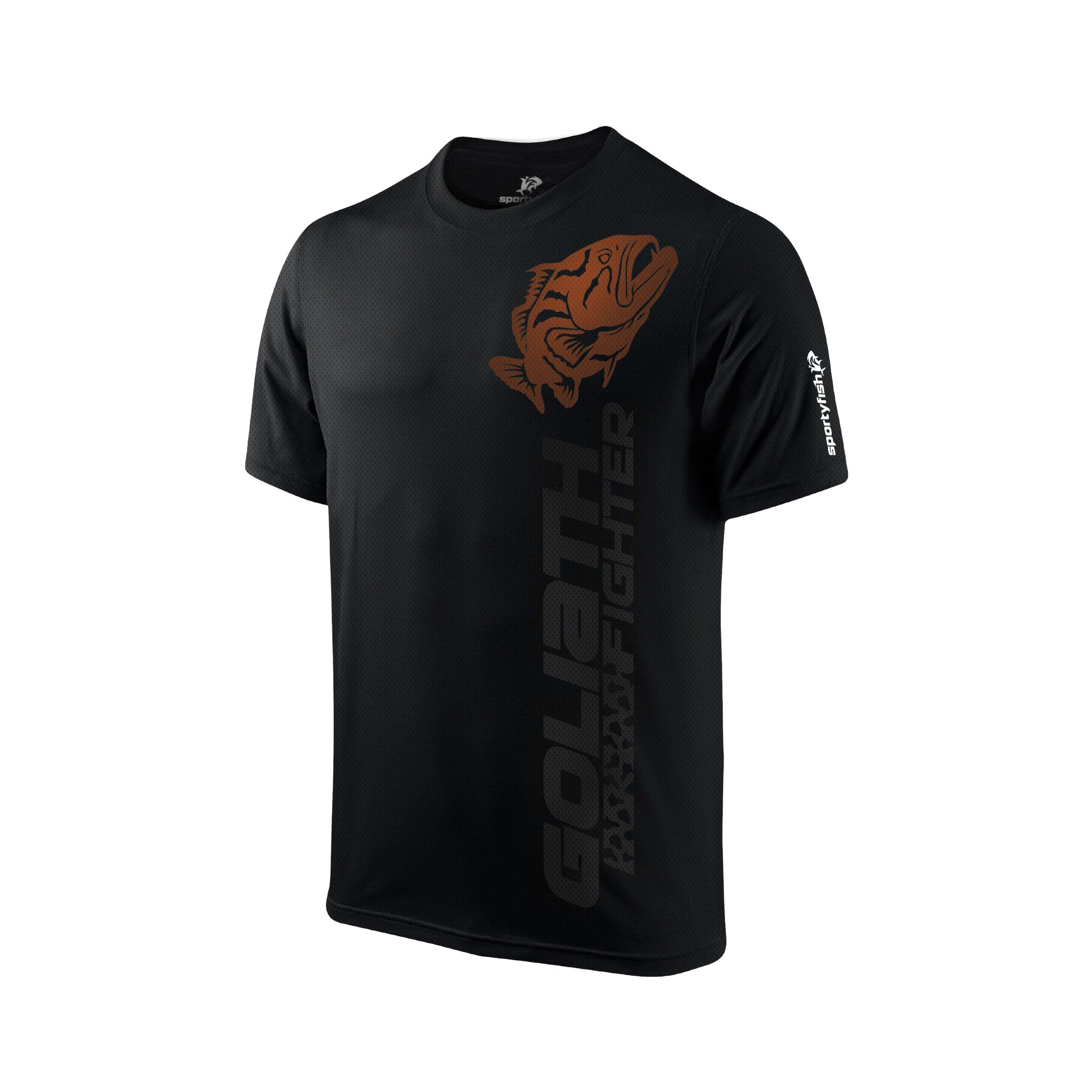 SportyFish Black Series T-shirt(front view): Grouper