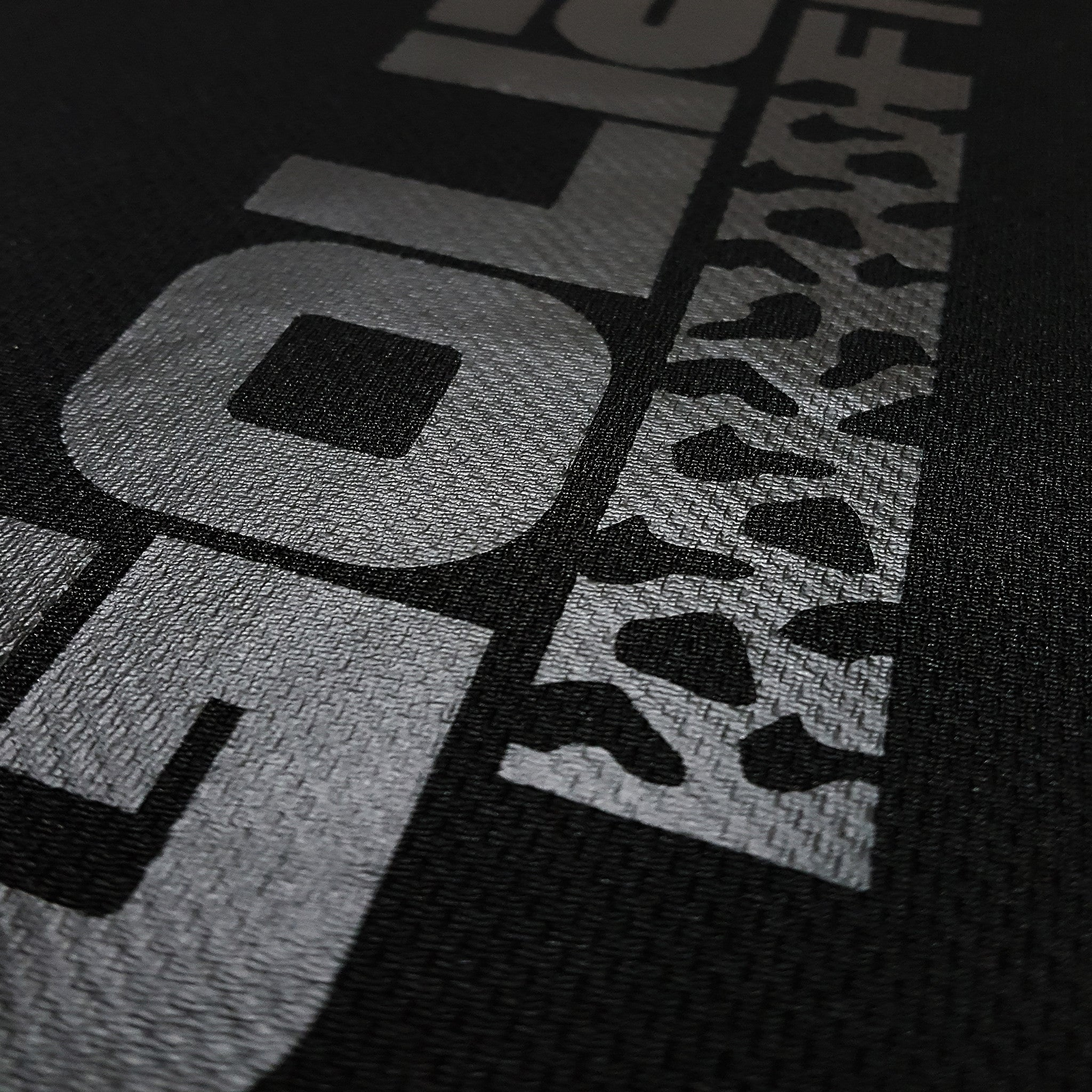 SportyFish Black Series black t-shirt: Grouper close-up view 2