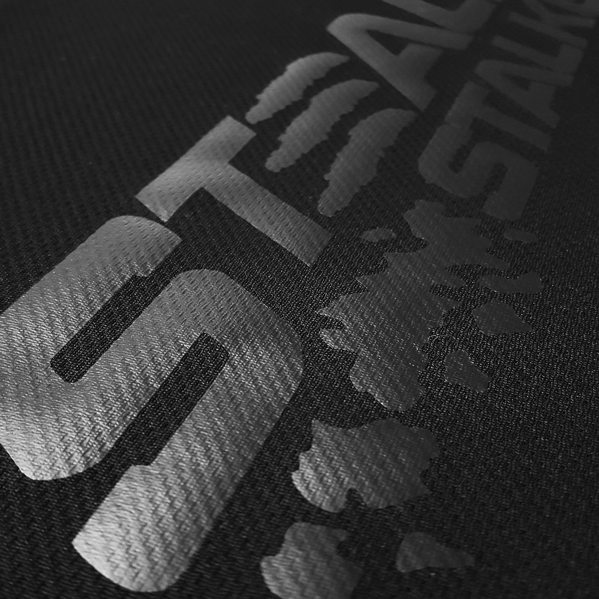 SportyFish Black Series black Long-sleeves t-shirt: Peacock Bass close-up view 2