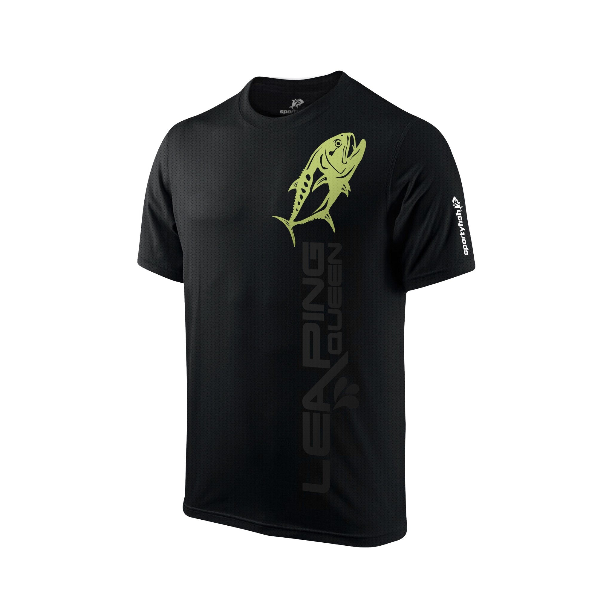 SportyFish Black Series Short-sleeves T-shirt(front view): Queenfish