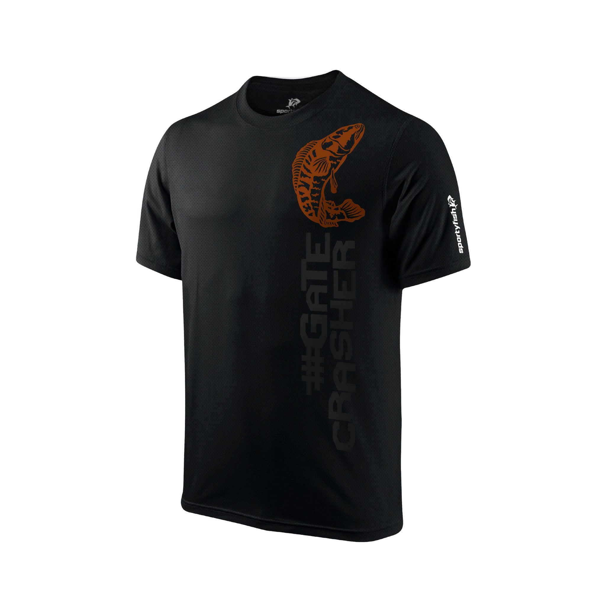 SportyFish Black Series T-shirt(front view): Toman