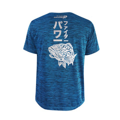 Bold Series Turquoise T-shirt(SS): The Grouper(Goliath Fighter)(In Japanese Words)